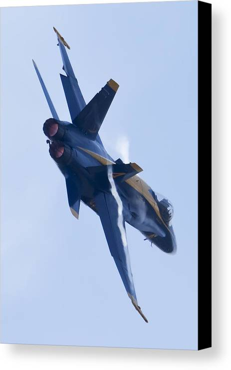Us Navy Canvas Print featuring the photograph Us Navy Blue Angels Poster by Dustin K Ryan