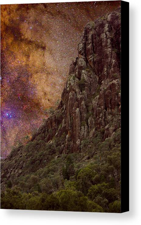 Milky Way Canvas Print featuring the photograph Aboriginal Dreamtime by Charles Warren