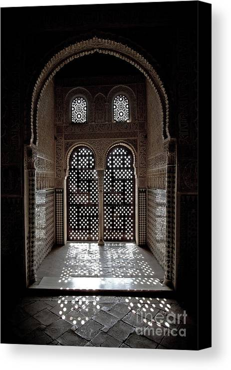 Alhambra Canvas Print featuring the photograph Alhambra Window by Jane Rix