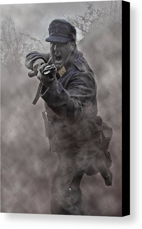 Soldier Canvas Print featuring the photograph Bayonet Warrior by Mark H Roberts