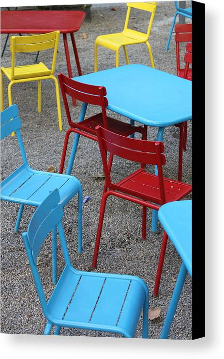 Chairs Canvas Print featuring the photograph Chairs In Bryant Park by Lauri Novak