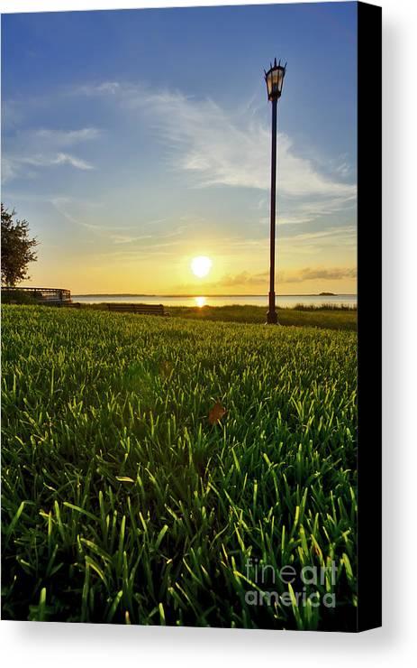 Charleston Canvas Print featuring the photograph Charleston Waterfront Park Sunrise 3 by Dustin K Ryan
