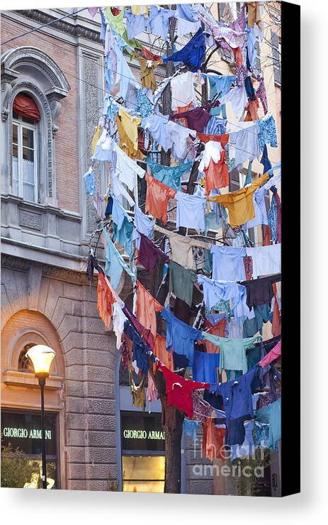 Angel Canvas Print featuring the photograph Clothes In The Street by Andre Goncalves