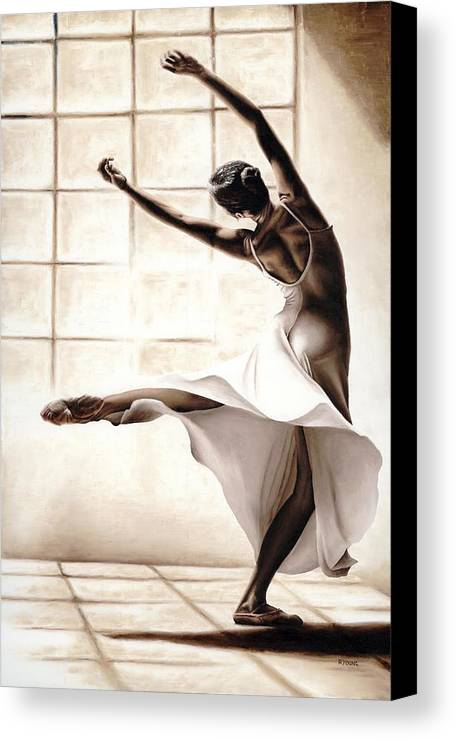 Dancer Canvas Print featuring the painting Dance Finesse by Richard Young