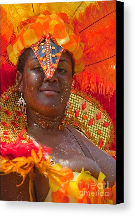 Festival Canvas Print featuring the photograph Dc Caribbean Carnival No 24 by Irene Abdou