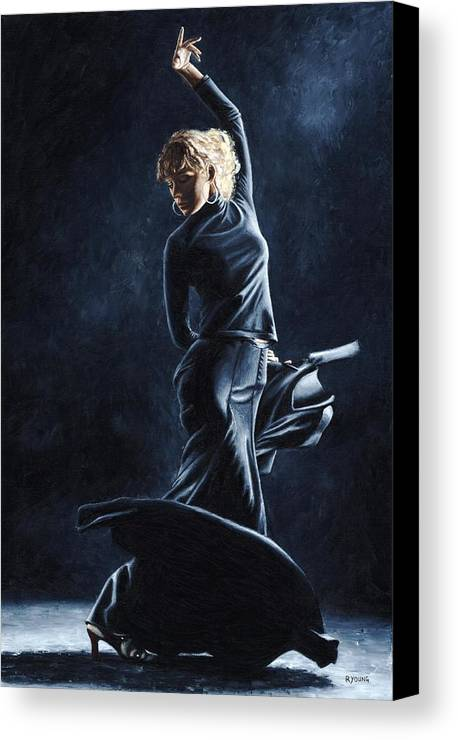 Flamenco Canvas Print featuring the painting Flamenco Dexterity by Richard Young