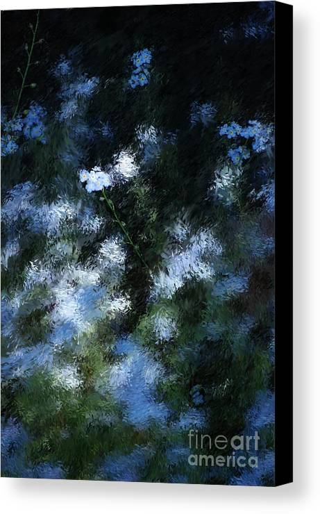 Abstract Canvas Print featuring the digital art Forget Me Not by David Lane