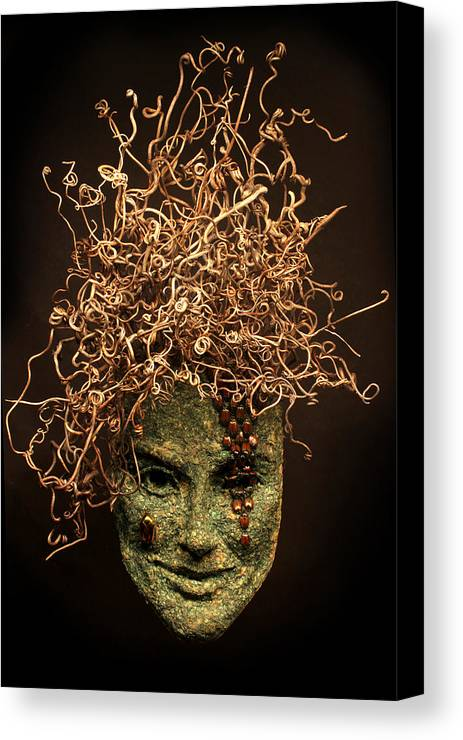 Art Canvas Print featuring the sculpture Frou-frou by Adam Long