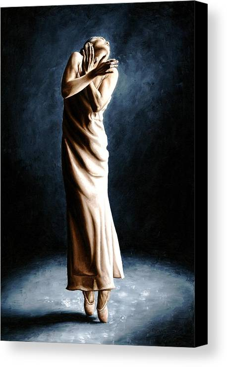 Dancer Canvas Print featuring the painting Intense Ballerina by Richard Young