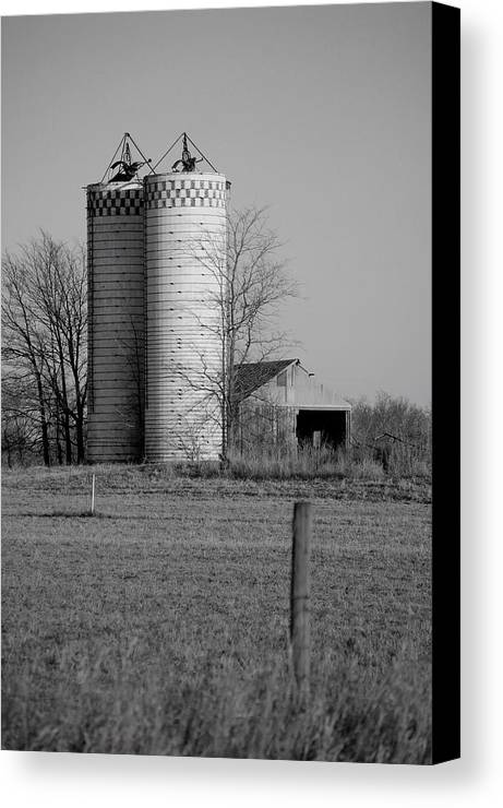 Old Canvas Print featuring the photograph Iowa Towers 1 by Jame Hayes