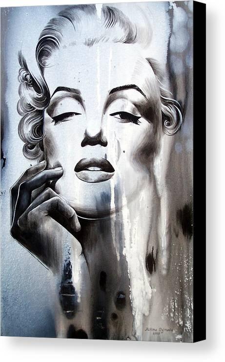 Marilyn Monroe Canvas Print featuring the painting Marilyn Monroe by Fatima Azimova