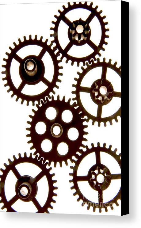 Backlight Canvas Print featuring the photograph Mechanism by Bernard Jaubert