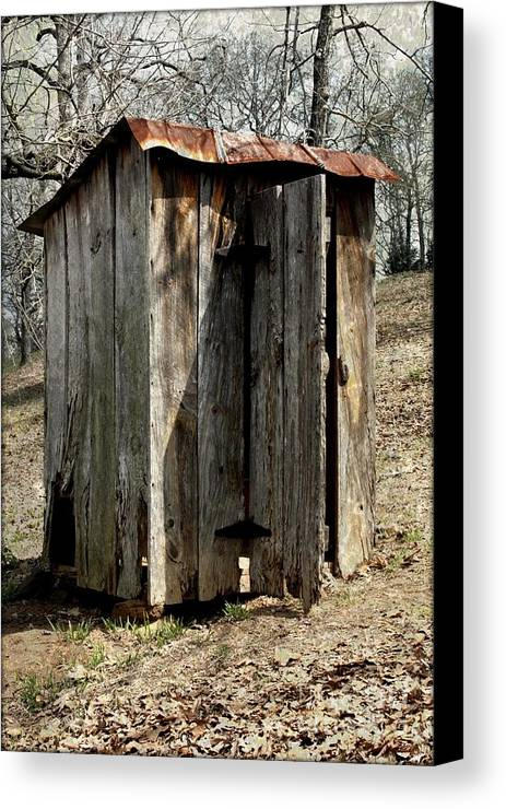 Outdoor Canvas Print featuring the photograph Outhouse by Gayle Johnson
