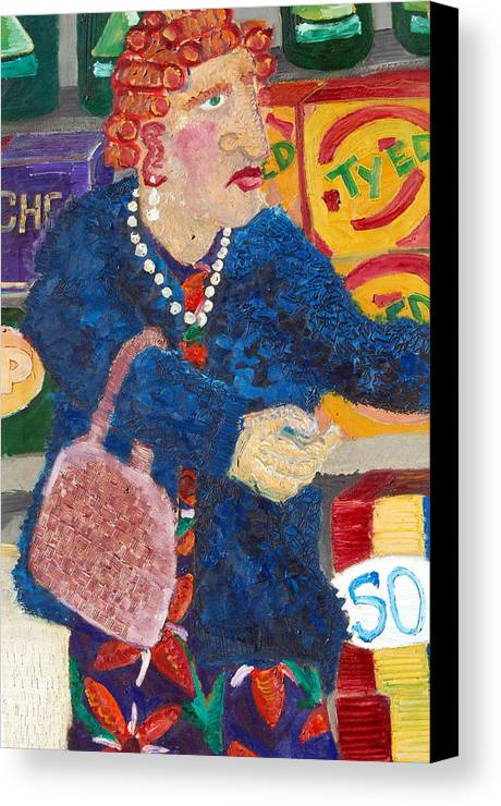 Woman Canvas Print featuring the painting Ruby by Jame Hayes