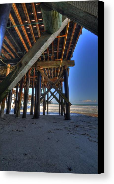 San Clemente Pier Canvas Print featuring the photograph San Clemente Pier by Kelly Wade