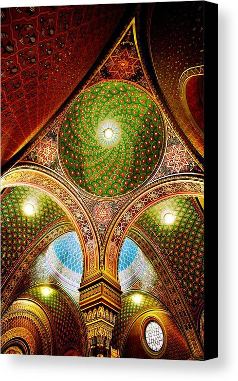 Spanish Synagogue Canvas Print featuring the photograph Spanish Synagogue by John Galbo