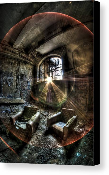 Room Canvas Print featuring the photograph Sunburst Sofas by Nathan Wright