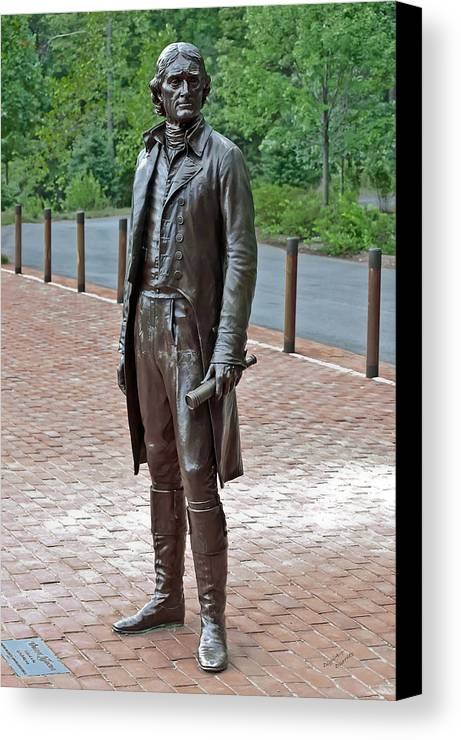 Thomas Jefferson Canvas Print featuring the photograph The Man Behind Monticello by DigiArt Diaries by Vicky B Fuller
