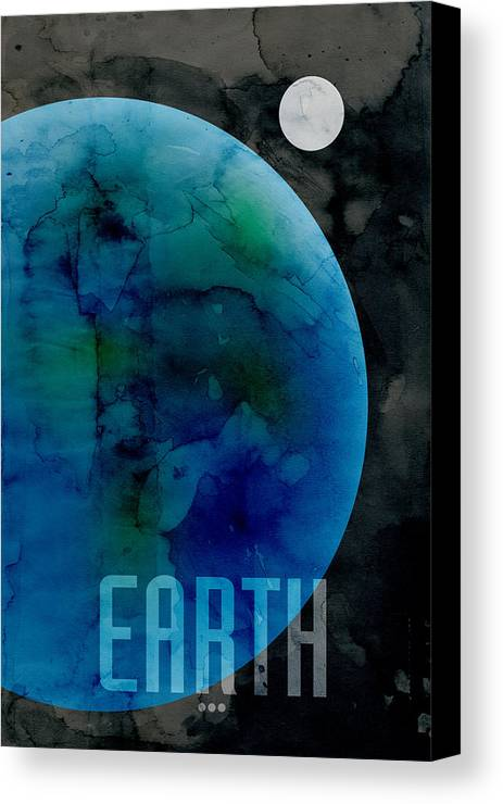 Earth Canvas Print featuring the digital art The Planet Earth by Michael Tompsett