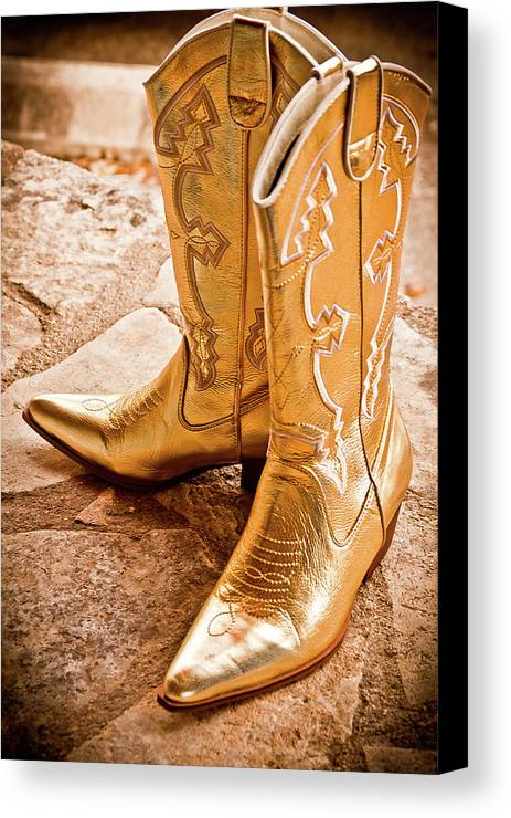 Boots Canvas Print featuring the photograph Western Wear by Jill Smith