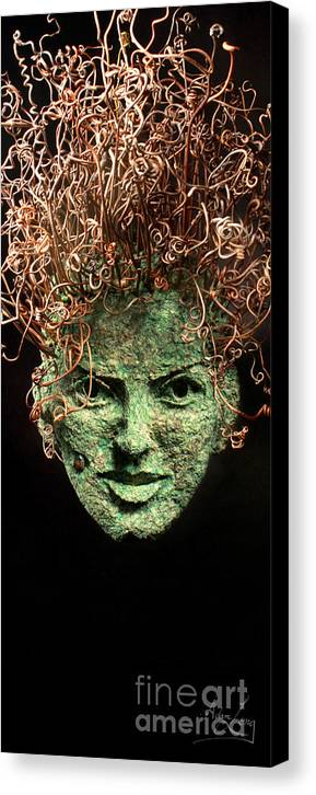 Adam Long Canvas Print featuring the sculpture Take A Chance by Adam Long