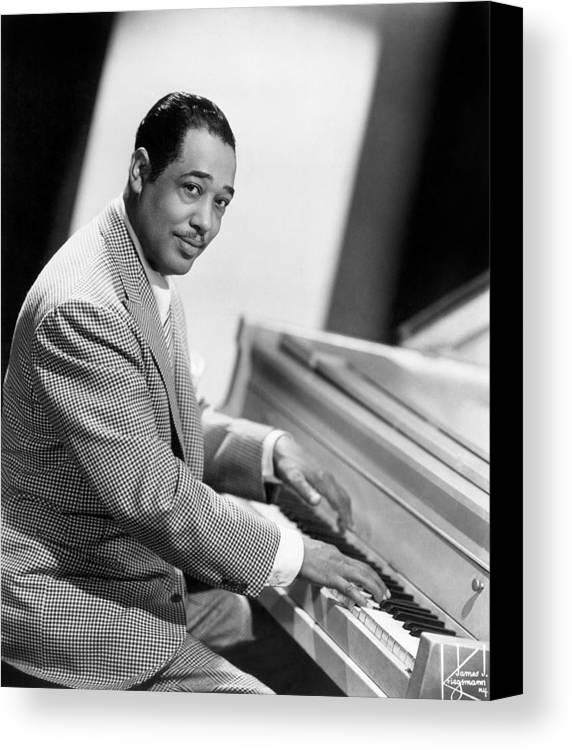 20th Century Canvas Print featuring the photograph Duke Ellington (1899-1974) by Granger