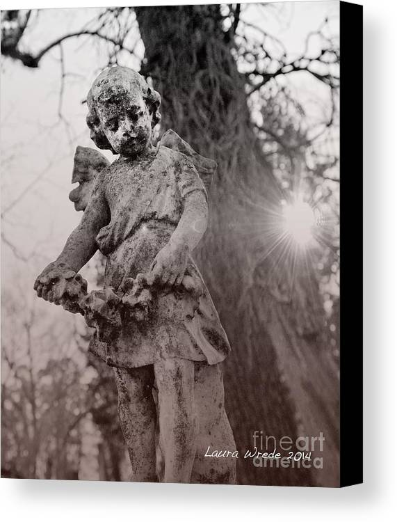 Angels Canvas Print featuring the photograph Angels Will Watch Over You by Artist and Photographer Laura Wrede