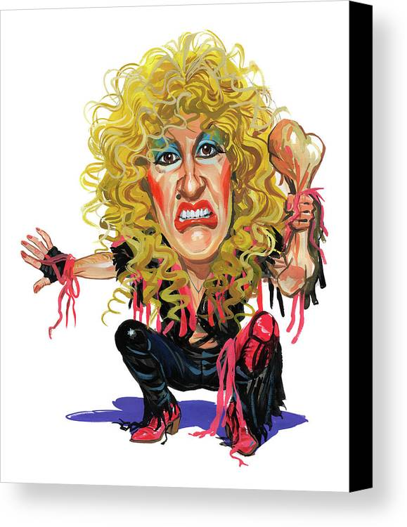 Dee Snider Canvas Print featuring the painting Dee Snider by Art