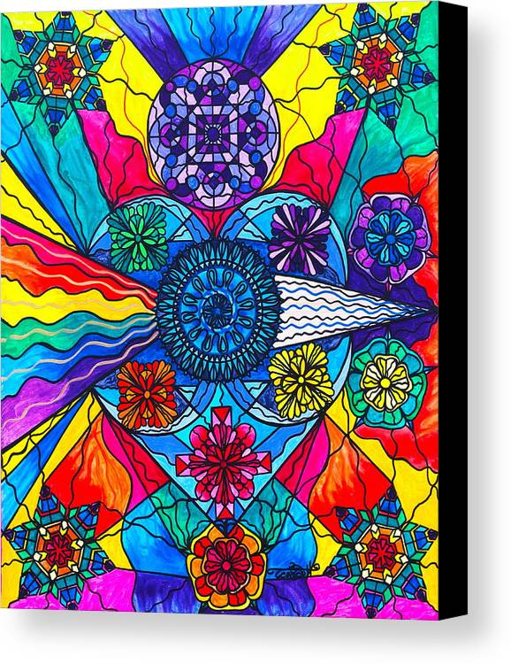 Vibration Canvas Print featuring the painting Speak From The Heart by Teal Eye Print Store