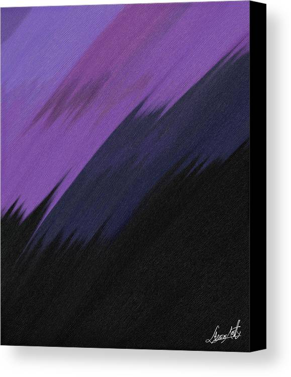 Digital Canvas Print featuring the painting Purple Sunrise by Lance Kelly