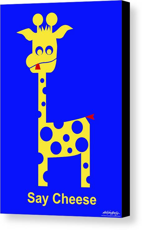 Canvas Print featuring the digital art Say Cheese by Asbjorn Lonvig