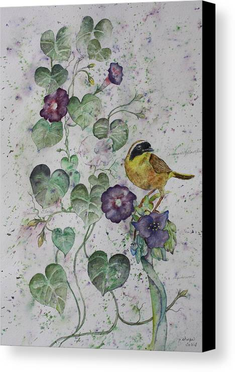 Botanical Canvas Print featuring the painting Almost Botanical by Patsy Sharpe
