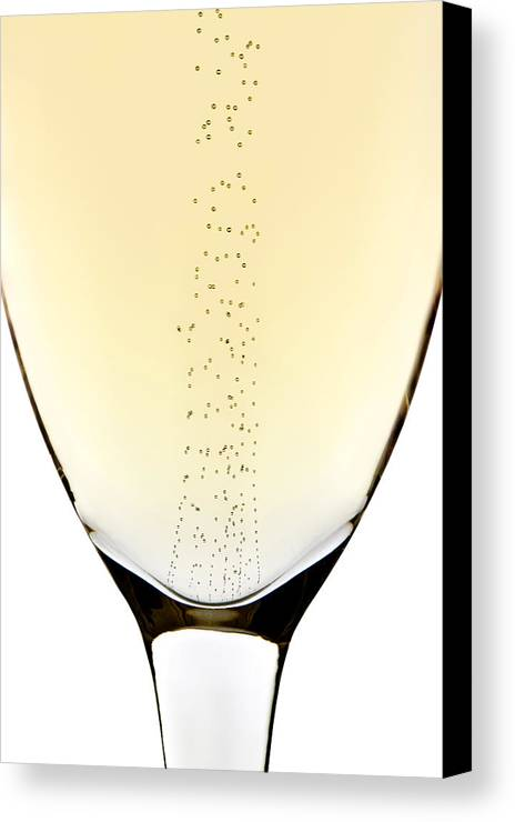 Detail Canvas Print featuring the photograph Bubbles In Champagne by Johan Swanepoel