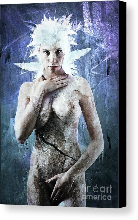 Elsa Canvas Print featuring the digital art Goddess Of Water by Michael Volpicelli