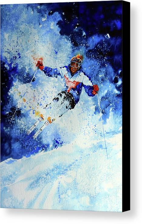 Artist Canvas Print featuring the painting Mogul Mania by Hanne Lore Koehler