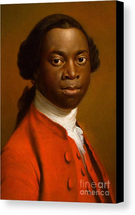 Male Canvas Print featuring the painting Portrait Of An African by Allan Ramsay