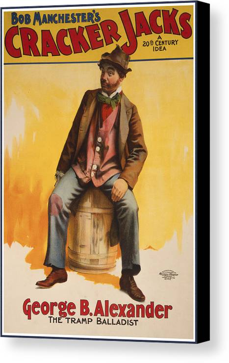 Entertainment Canvas Print featuring the drawing The Tramp Balladist by Aged Pixel