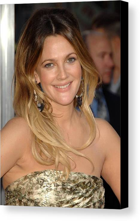 Drew Barrymore Canvas Print featuring the photograph Drew Barrymore At Arrivals For Going by Everett