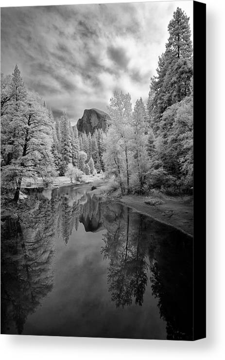 Vertical Canvas Print featuring the photograph Half Dome by LiorDrZ© Photography