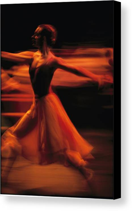 Africa Canvas Print featuring the photograph Portrait Of A Ballet Dancer Bathed by Michael Nichols