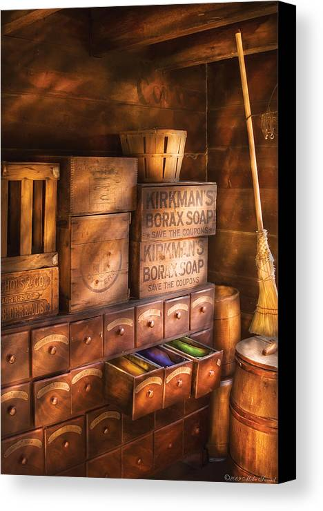 Savad Canvas Print featuring the photograph Artist - Assorted Dyes by Mike Savad