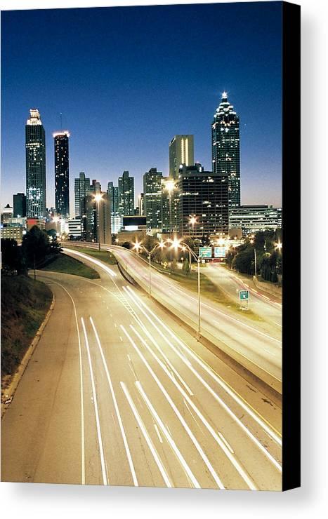Atlanta Canvas Print featuring the photograph Atlanta Skyline by Jason Vanhoy