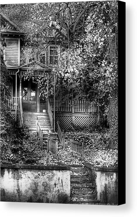Savad Canvas Print featuring the photograph Haunted - Abandoned by Mike Savad