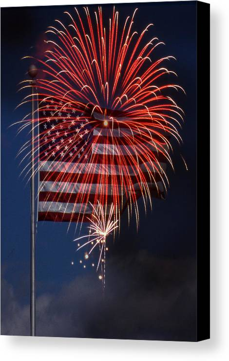 Flag Canvas Print featuring the photograph Independence Day by Skip Willits