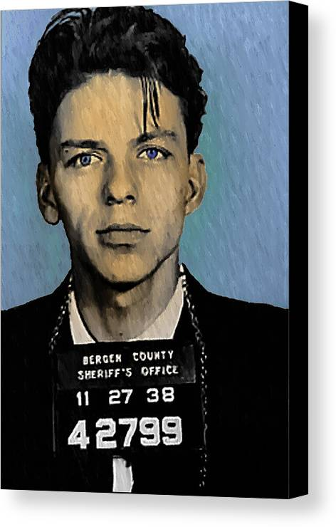 Old Blue Eyes Canvas Print featuring the digital art Old Blue Eyes - Frank Sinatra by Bill Cannon