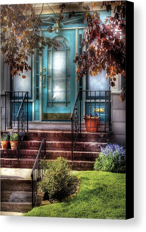 Savad Canvas Print featuring the photograph Spring - Door - Apartment by Mike Savad