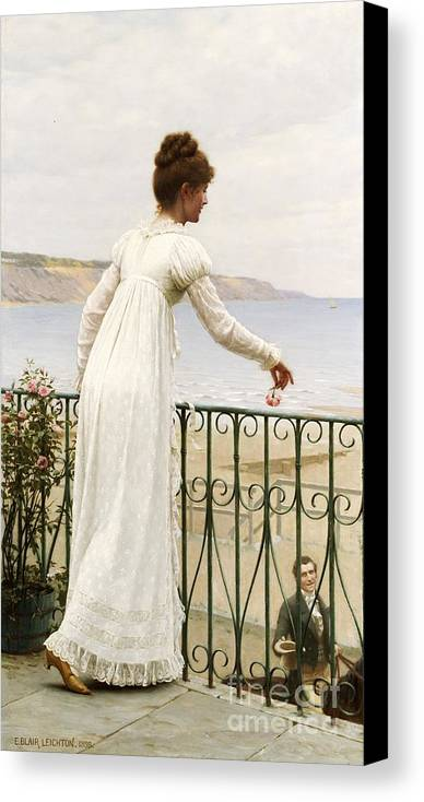 A Favour Canvas Print featuring the painting A Favour by Edmund Blair Leighton