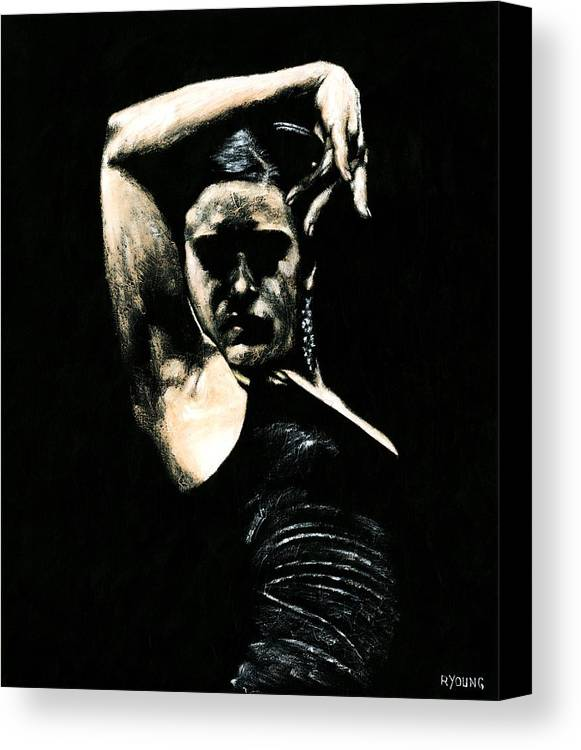 Fanny Ara Canvas Print featuring the painting Flamenco Soul by Richard Young