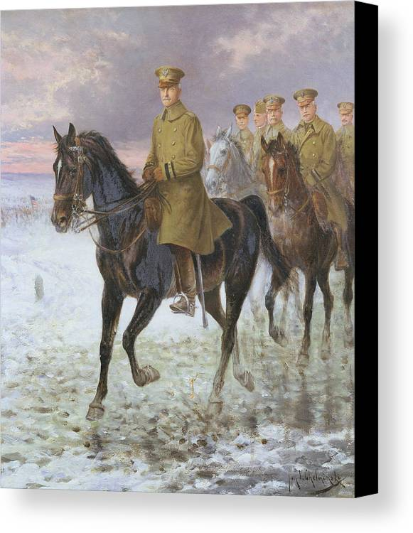 General Canvas Print featuring the painting General John J Pershing by Jan van Chelminski