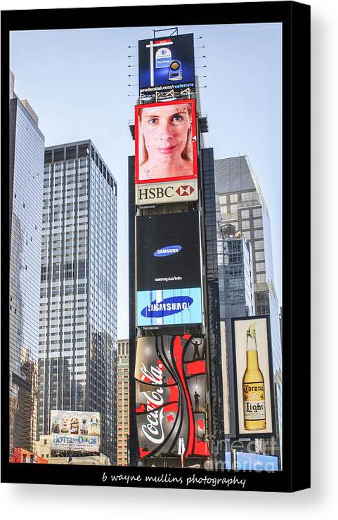 New York Canvas Print featuring the photograph New York New York by B Wayne Mullins